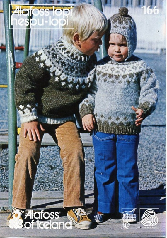 Bouquet Children/'s Fair Isle Pullover child/'s sweater knitting pattern