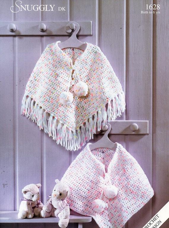 Baby Childs Childrens Crochet Poncho Crochet Pattern Pdf Etsy