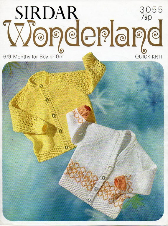 b2506b8e1 baby cardigans knitting pattern pdf download vintage 3ply baby