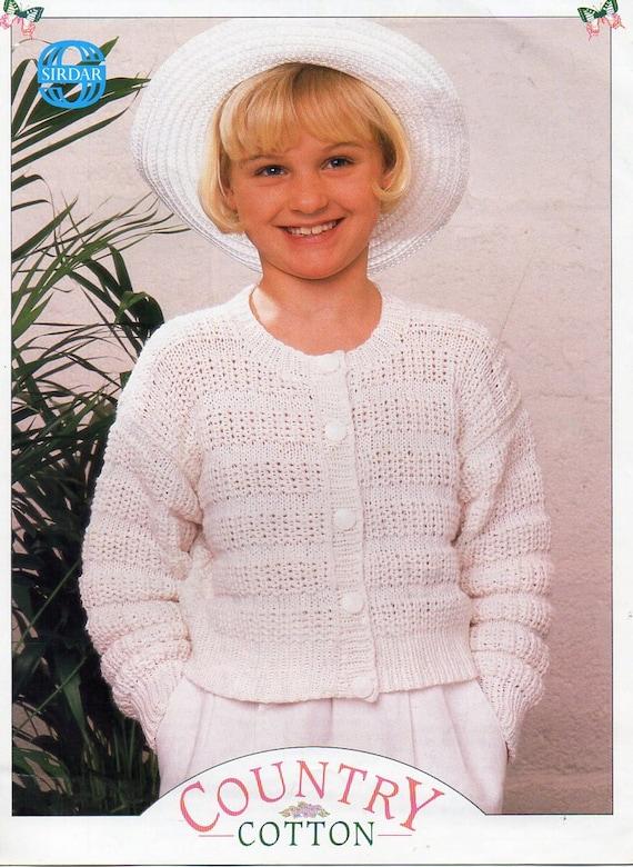 715750d5c girls cardigan knitting pattern pdf childrens round neck