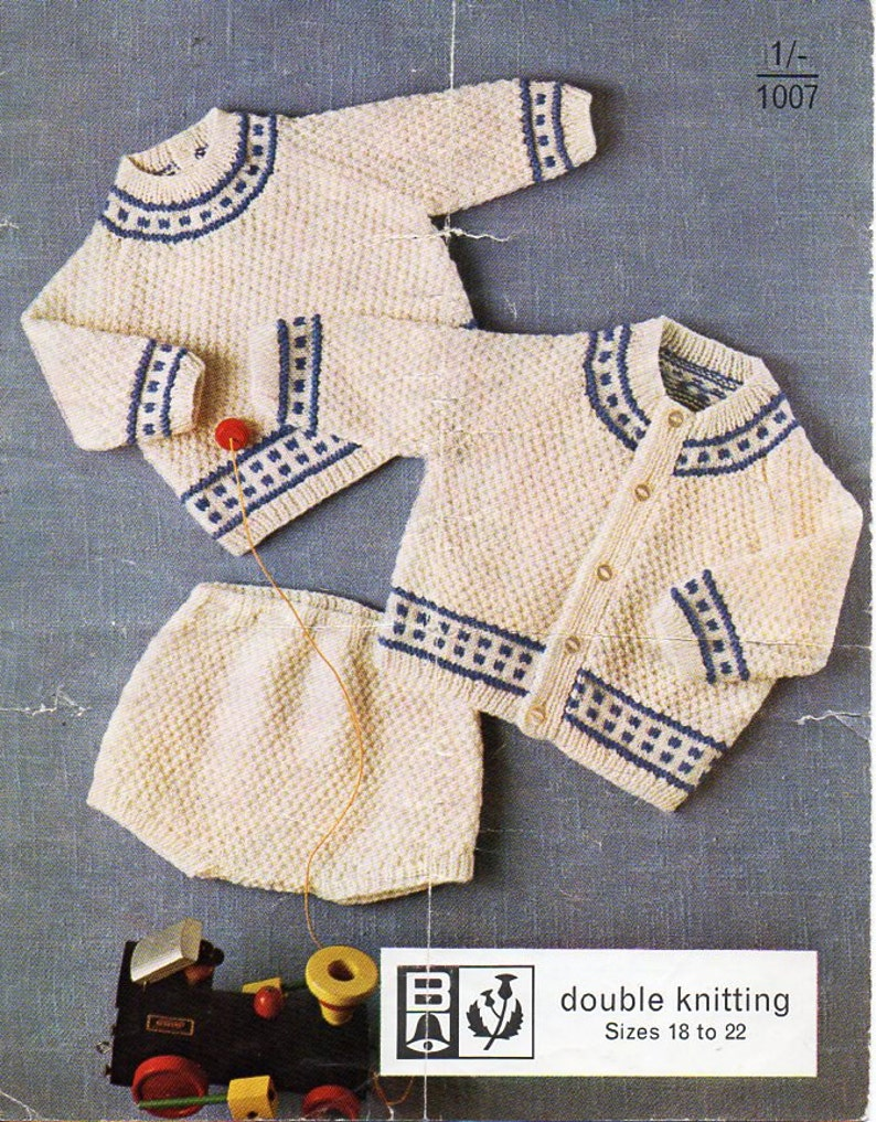 55a7e5716 Vintage Baby Romper Suit knitting pattern pdf Cardigan Sweater   Etsy