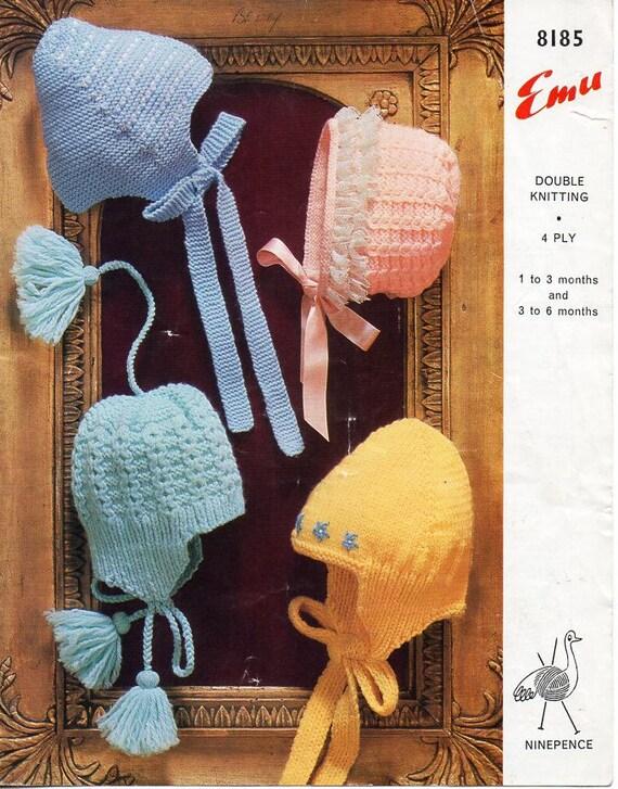 479be01551f vintage baby hats knitting pattern pdf baby bonnets helmets