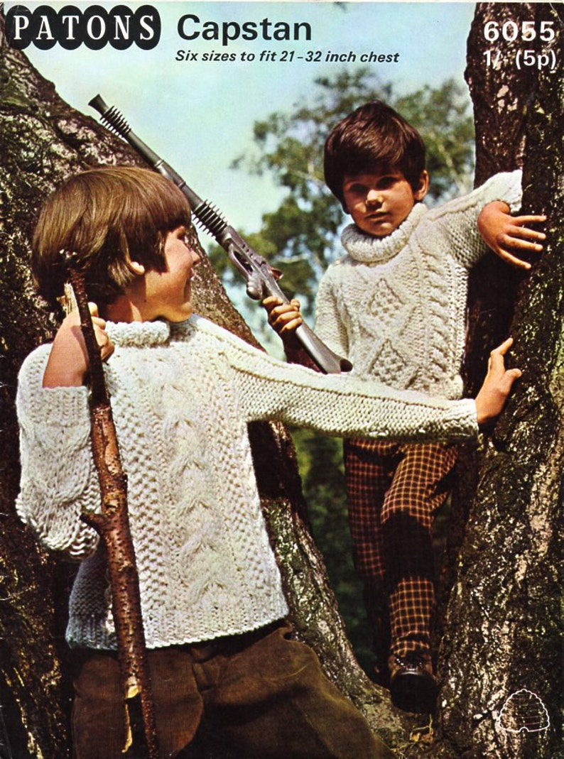0adc9ea79 Childrens aran sweater knitting pattern pdf childs cable roll