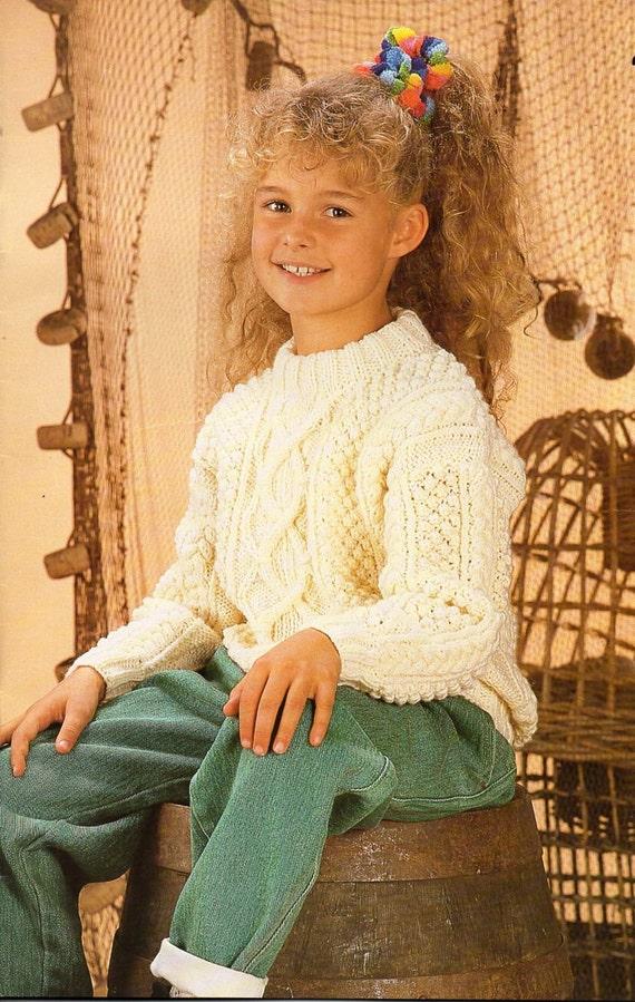 childrens aran sweater knitting pattern pdf download ...