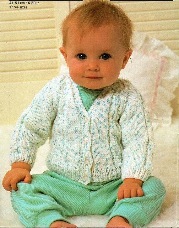 1da947888 baby cardigan knitting pattern pdf DK baby cable jacket
