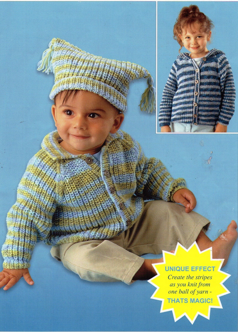 983d0fe55 Baby childrens fishermans rib cardigan knitting pattern PDF