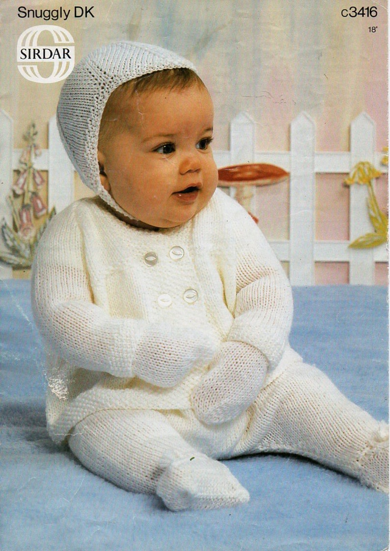 467365c6169d Baby knitting pattern pdf baby pram set baby coat leggings hat