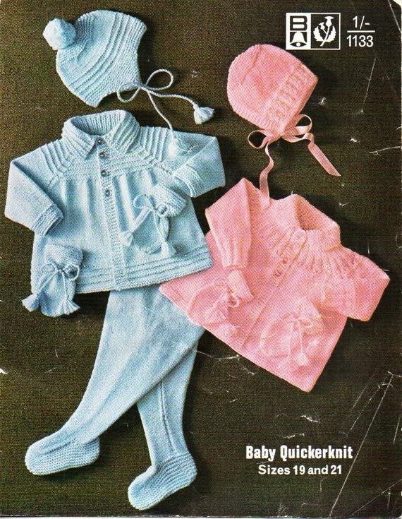 Baby Boys Girls Jacket Leggings Bonnet Helmet Mitts Knitting Pattern 533