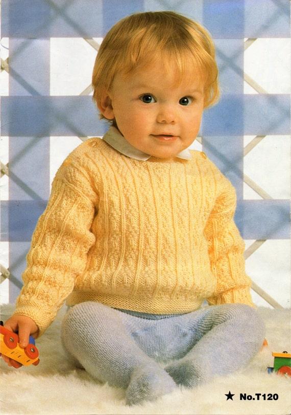 Baby Knitting Pattern Baby Sweater Baby Jumper Knitting ...