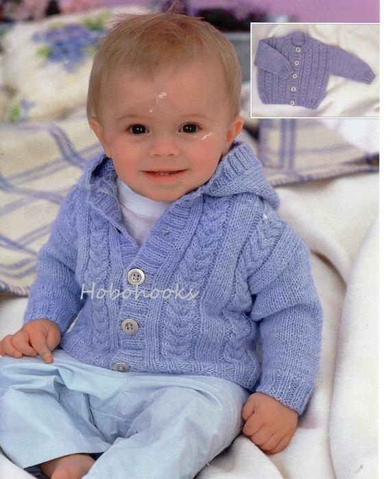 Baby Knitting Pattern Childs Knitting Pattern Baby Cardigans Etsy