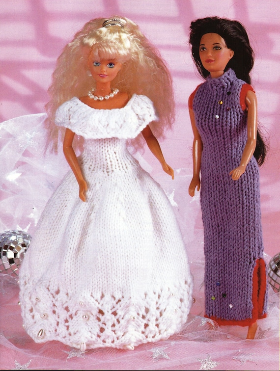 Teenage Doll Knitting Pattern pdf download Barbie Ball Gown