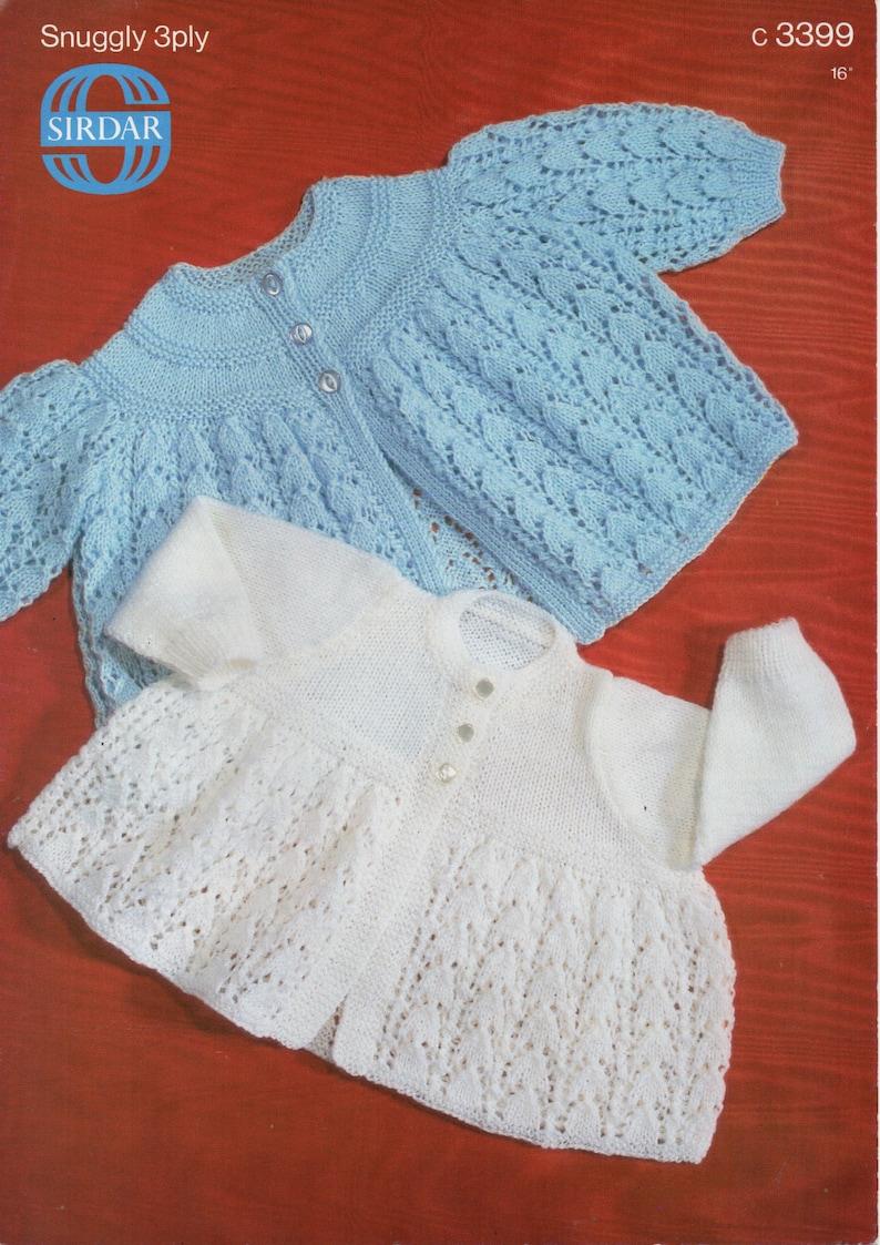 c986d467fd66 Baby matinee coats knitting pattern pdf 3ply matinee jackets