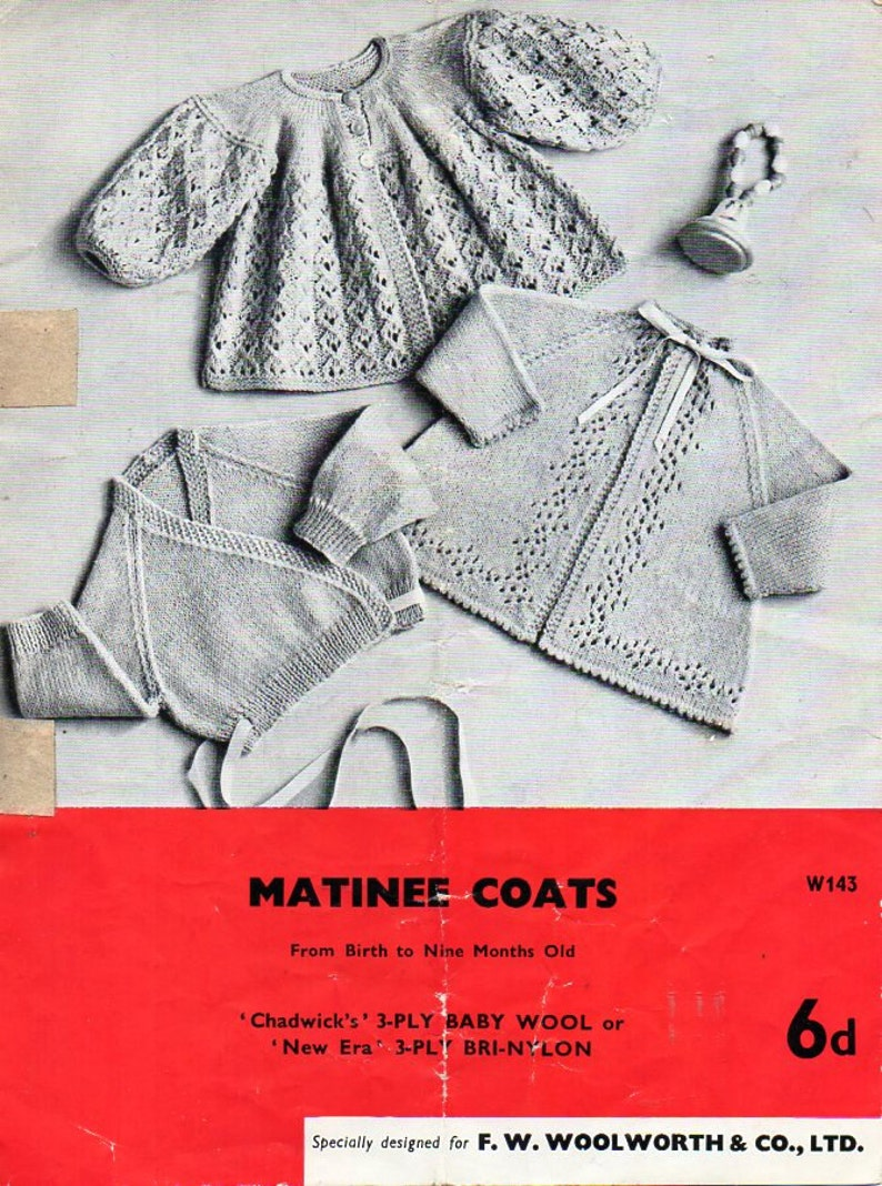 a9bb120683fc Vintage baby knitting pattern pdf 3ply crossover cardigan