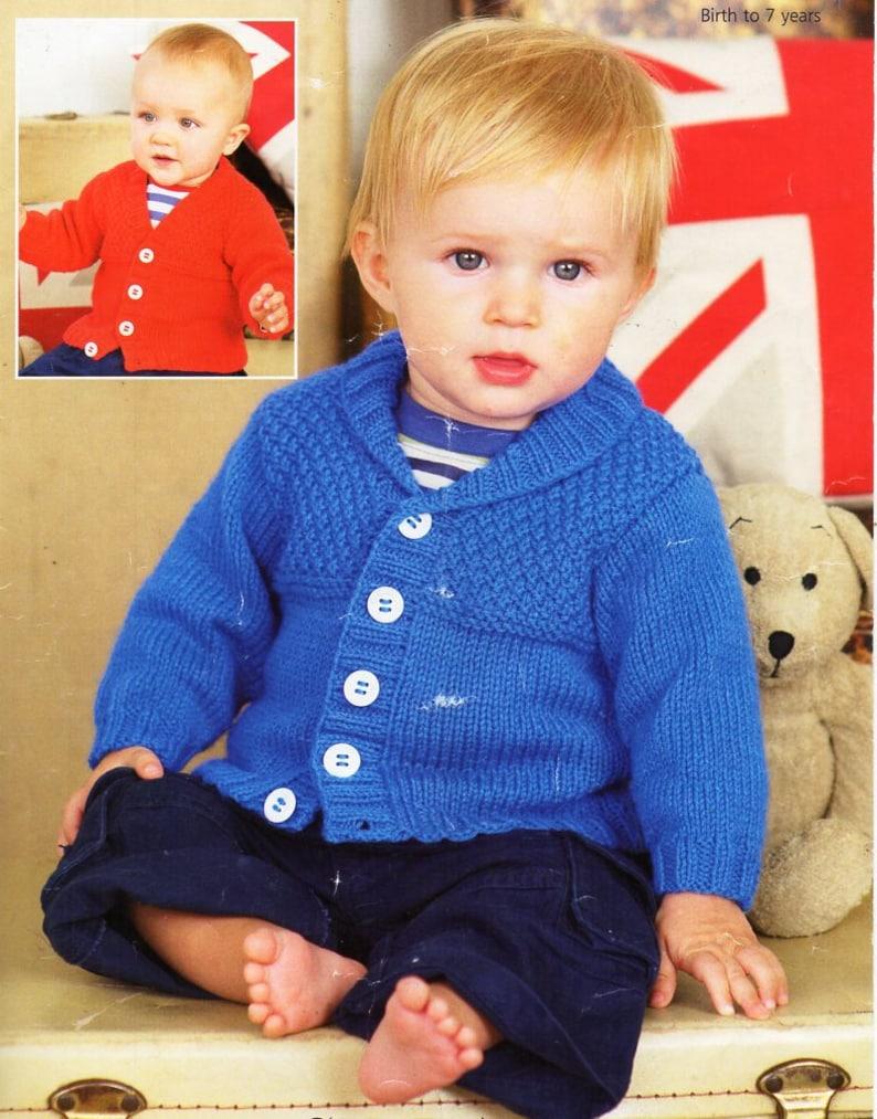 f0687a320 Baby KNITTING PATTERN pdf baby   childs cardigans shawl collar