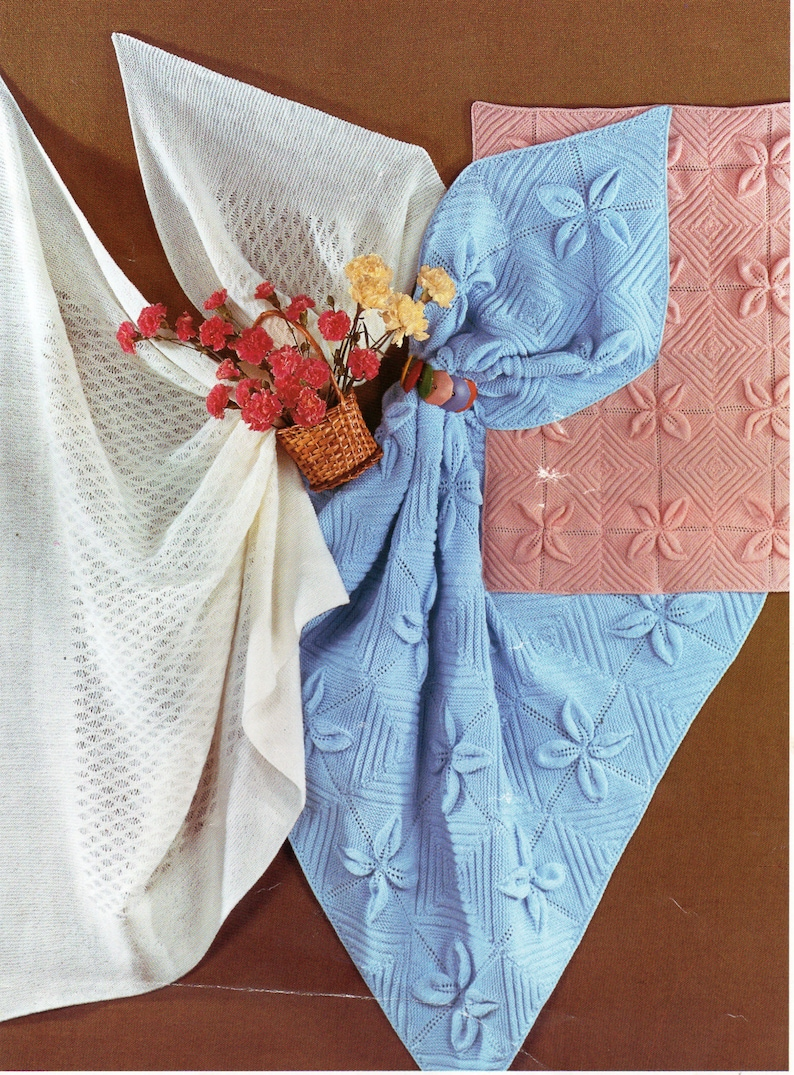 631675bed Baby Shawl Blankets Knitting Pattern PDF baby square shawl 3