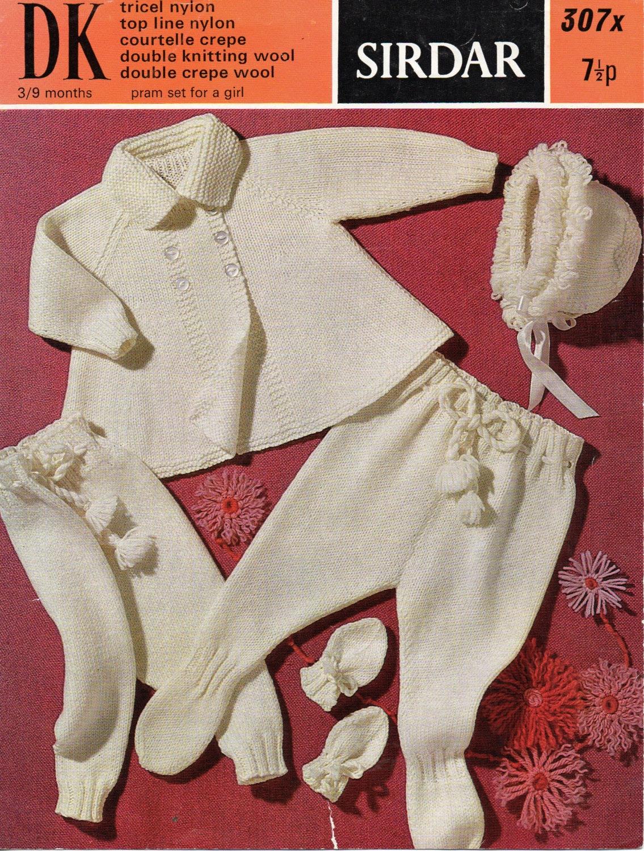 cad520e9ae10 Baby knitting pattern pdf download baby pram set baby girls