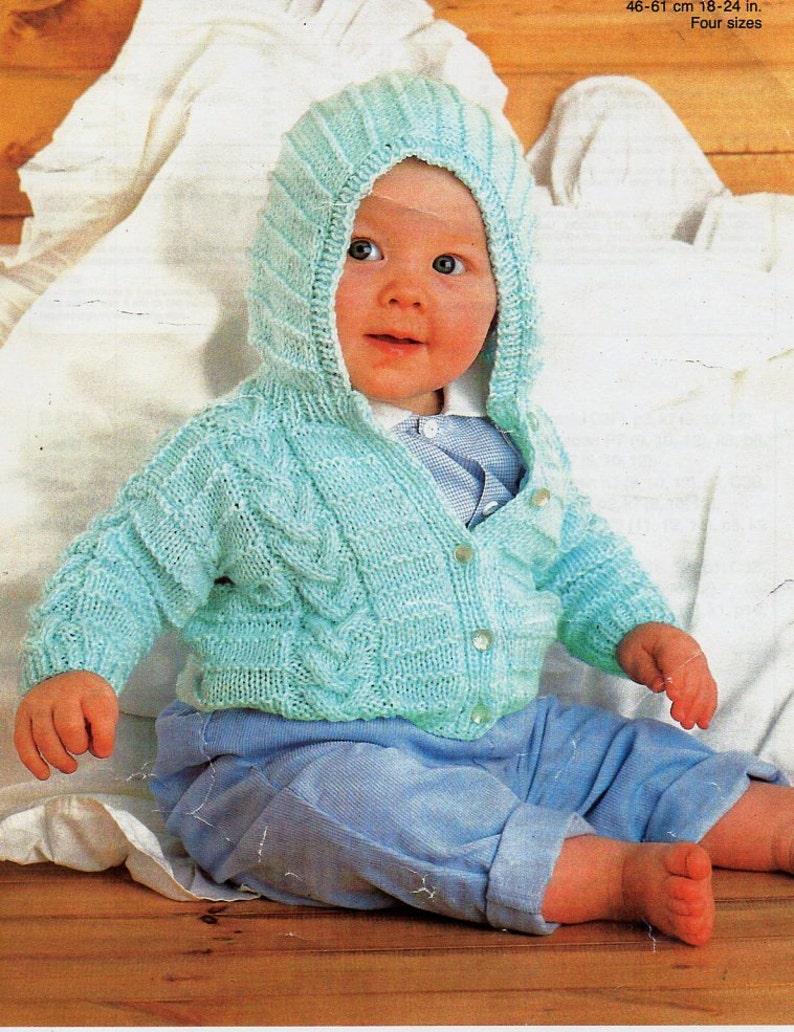 d8e551e2a4b4 Baby hooded jacket knitting pattern pdf baby hooded cardigan
