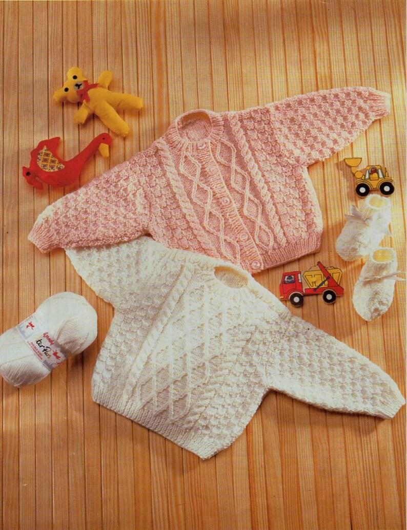 e30a4860e Baby aran sweater cardigan knitting pattern PDF premature baby
