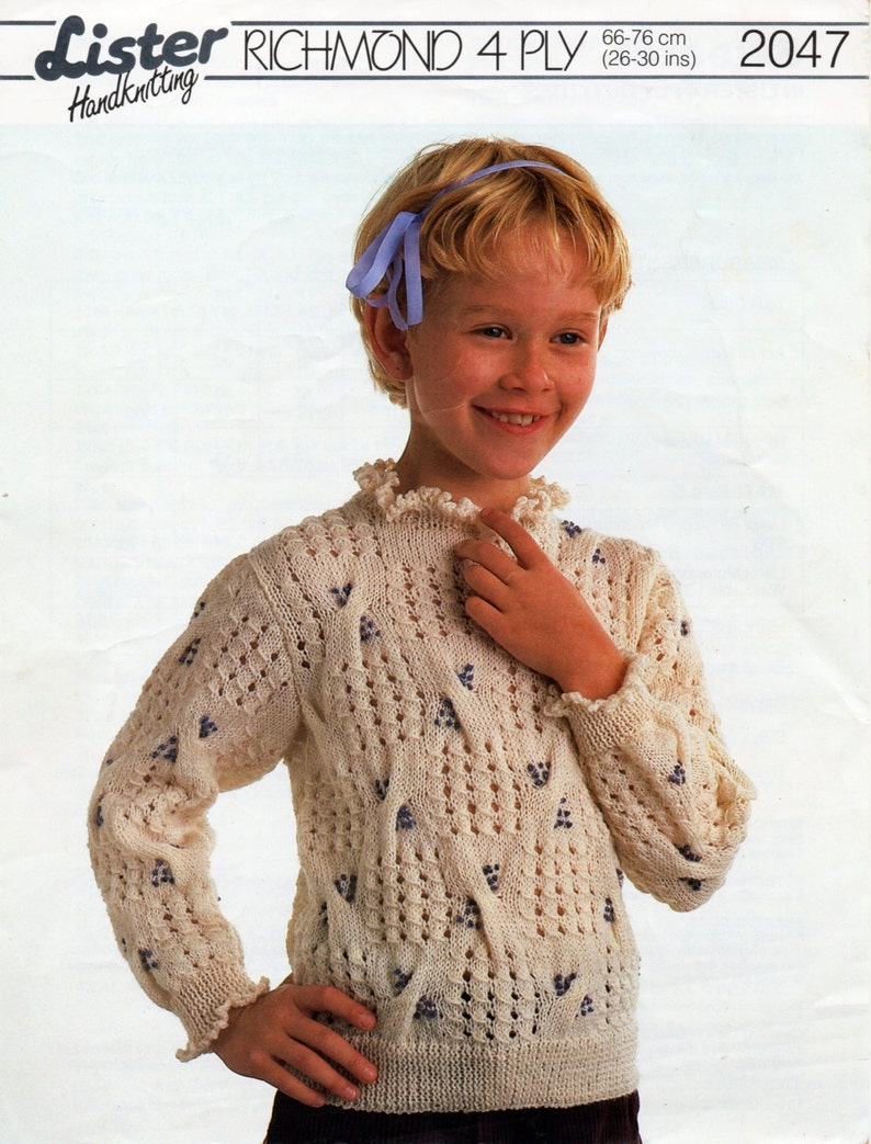 07e77757e Girls sweater knitting pattern pdf download girls jumper