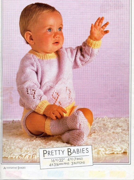 7b557626dc0c baby sweater shorts   socks knitting pattern pdf DK baby