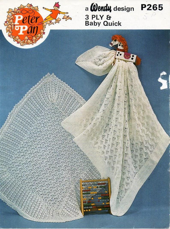 784073ca7 Vintage baby shawl knitting pattern pdf baby square shawl