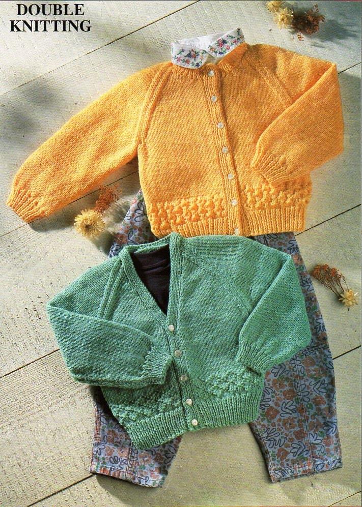 baby cardigans knitting pattern PDF DK jackets v or round ...
