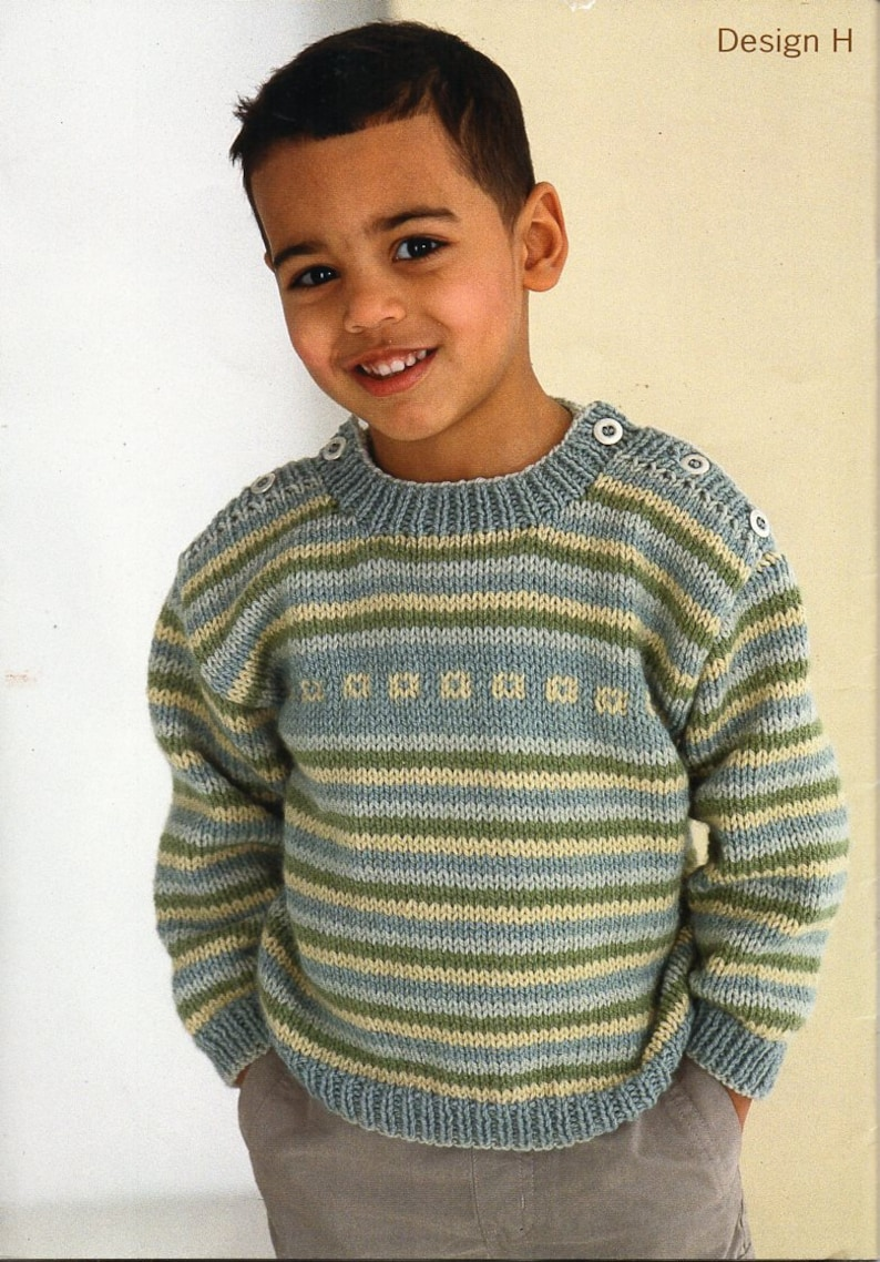 7e35081c6 Baby childrens sweater knitting pattern pdf download button