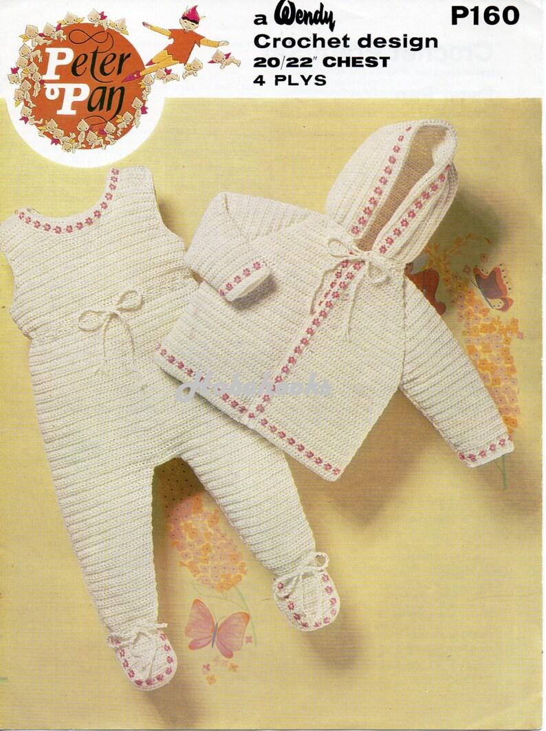 5492b4609c93 Baby CROCHET PATTERN baby crochet pram set baby crochet hooded