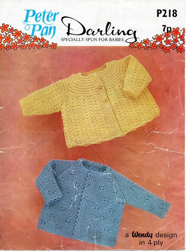 a6316a27ee73 Vintage baby knitting pattern pdf download 4ply baby matinee
