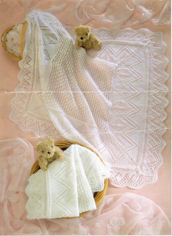 5958ef839 Baby shawl knitting pattern square shawl lacy shawl 3 ply   4