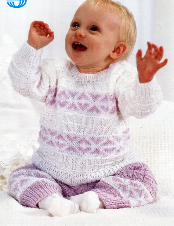 2a0fd8f9580a baby knitting pattern pdf baby sweater trousers jumper