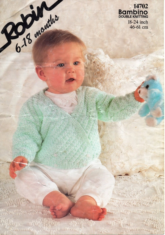 025f21244cca vintage baby crossover cardigan knitting pattern pdf double