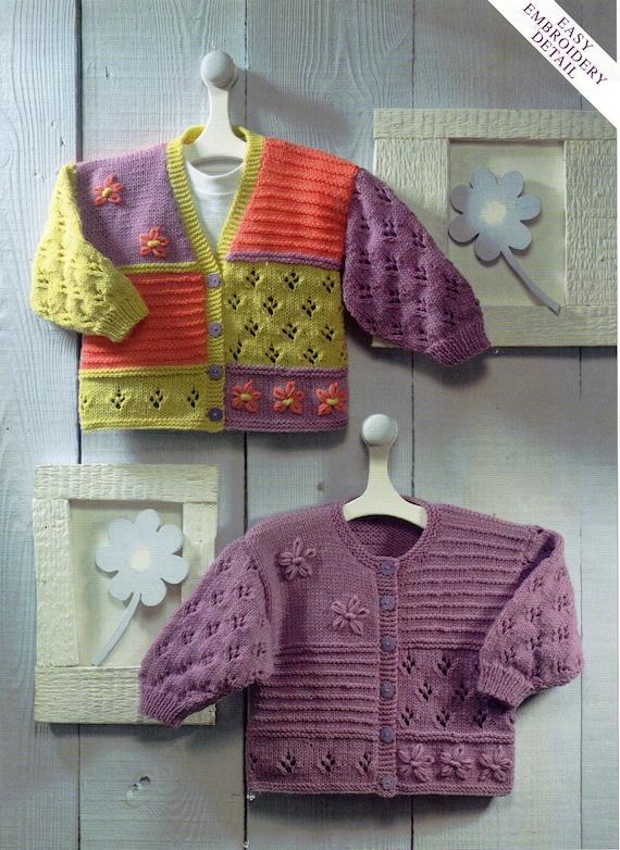 baby cardigans knitting pattern baby girls childrens jackets | Etsy
