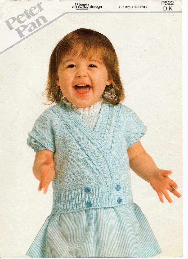 7831f3745 Baby childs crossover cardigan knitting pattern pdf double