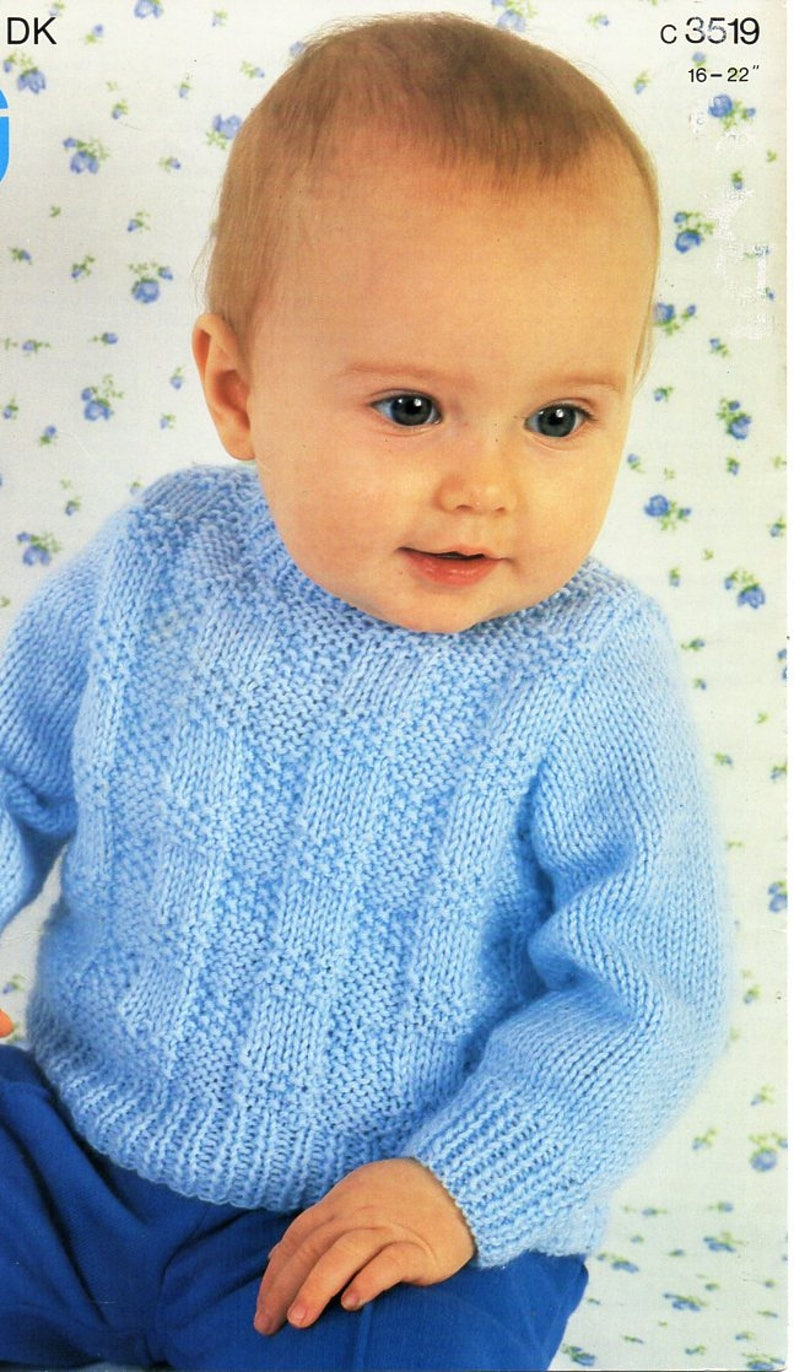 860b62017c8b Baby KNITTING PATTERN pdf baby sweater baby jumper round neck