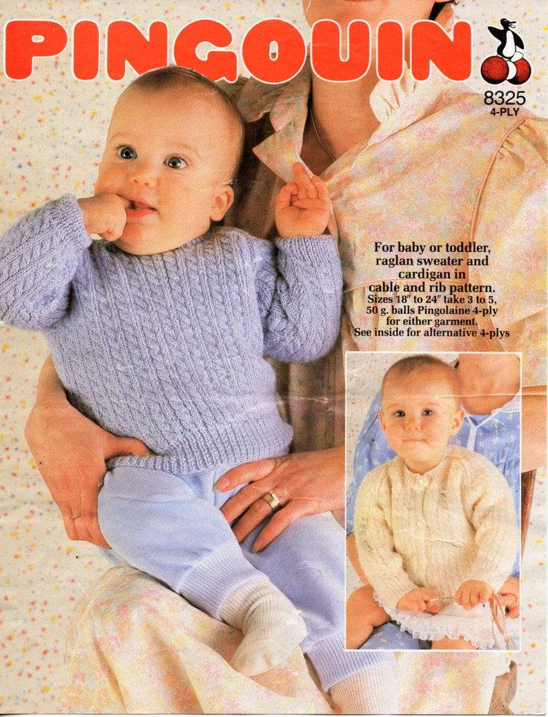 09074573e3b9 Baby   toddler sweater   cardigan knitting pattern cable