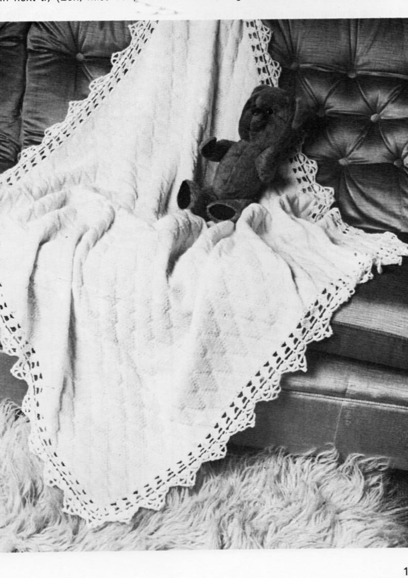 7d103a83c Baby 4ply square shawl knitting pattern pdf crochet border