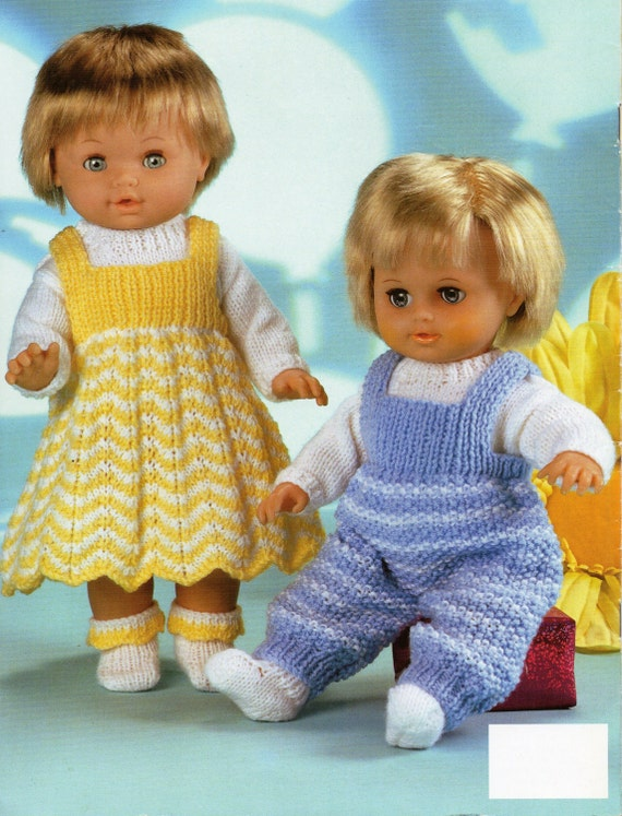 Baby Dolls Knitting Patterns Baby Dolls Dress Dungarees Sweater