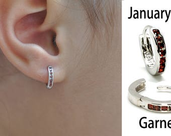 Childrens Girls Sterling Silver STAR Hoop Earrings /& Jewellery Gift Box