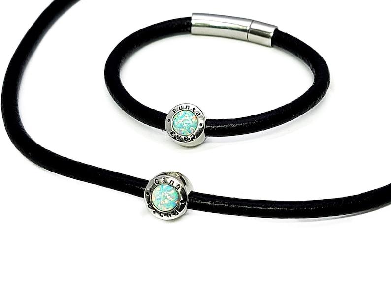 LarimarWhite Opal Punta Cana Happy Hour BraceletNecklace Set