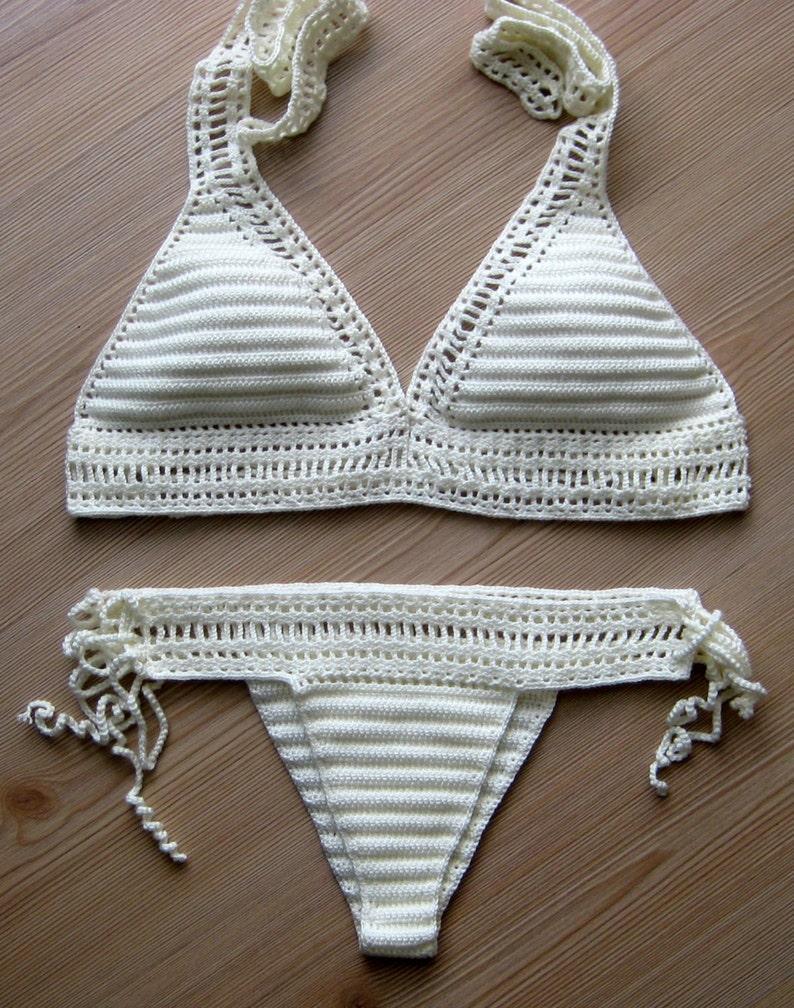 Bikini Alluncinetto Crema Bikini Costume Da Bagno Etsy