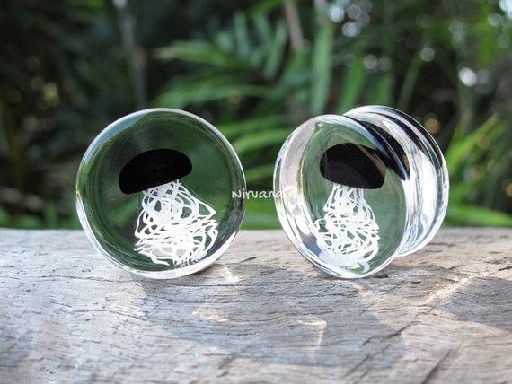 2 Pieces 1 Pair 16 mm Cobalt Blue /& White Trippy Hippie Plugs Pyrex Glass Gauges 00g 716 12 916 58 9.5 mm 10 mm 11.1 mm 12.7 mm