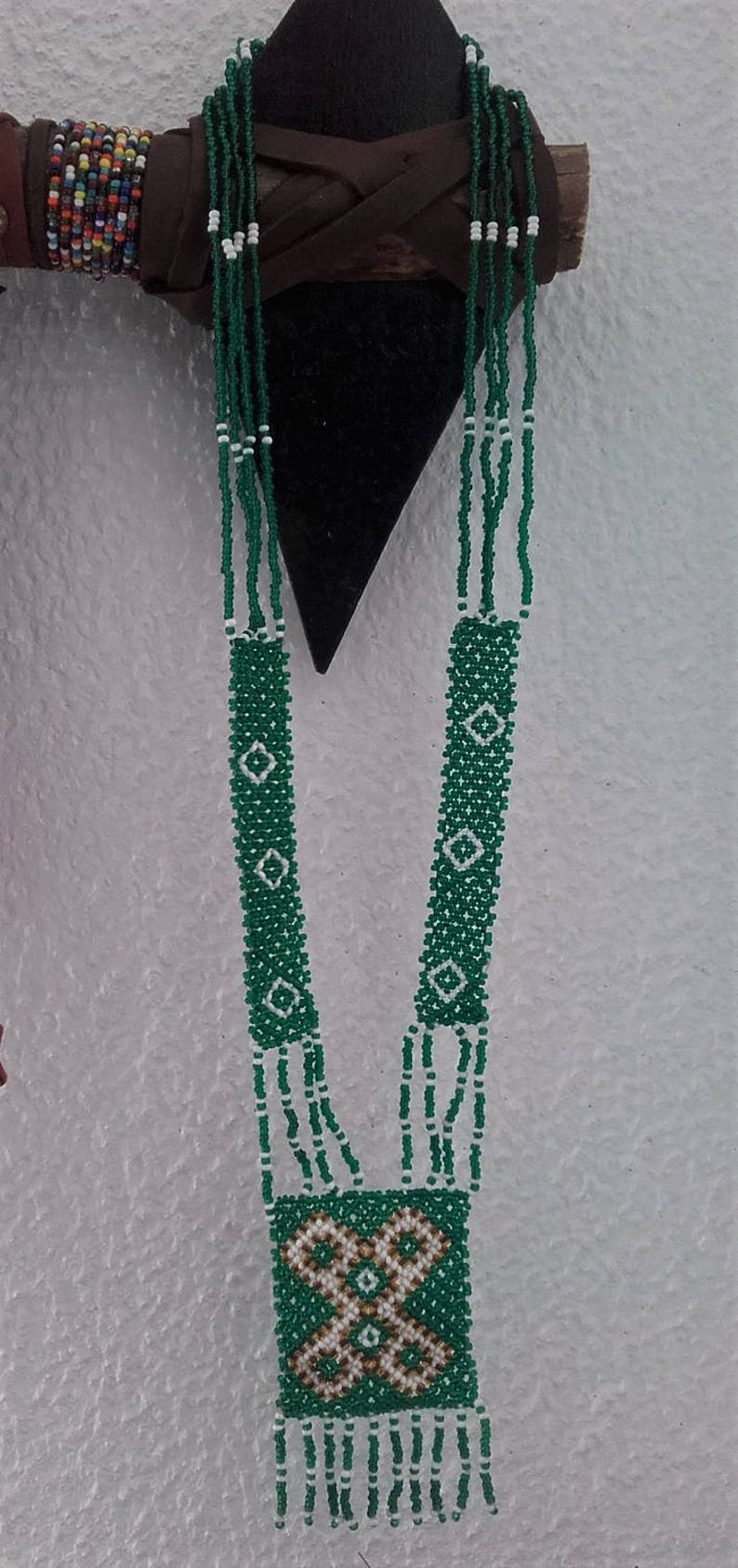 necklace in glass beads