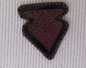 Leather Patch  Cowhide leather and ostrich leather