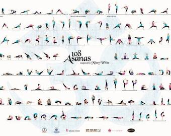 Yoga drawing | Etsy