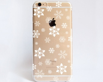Winter Snowflakes - Transparent Phone Case Design for iPhone Cases,  Samsung Cases, Google Pixel Cases and One Plus  Cases