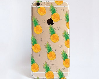 Transparent PINEAPPLE phone case design for iPhone Cases,  Samsung Cases, Google Pixel Cases and One Plus Cases
