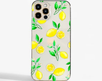 Clear Lemons phone case design for iPhone Cases,  Samsung Cases, Google Pixel Cases and One Plus  Cases