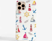 Sail Away. Watercolour Boats  Phone Cover Design for iPhone Cases, Samsung Cases, Google Cases and One Plus Five Cases. Dessi Designs