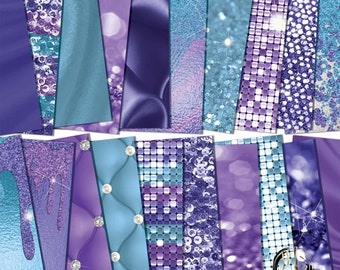 TURQUOISE PURPLE Art Journaling Photoshop Texture Collage Paper jpg file Digital Background download now!